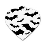 Deathrock Bats Dog Tag Heart (Two Sides)
