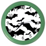 Deathrock Bats Color Wall Clock