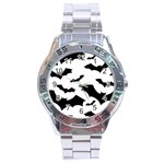 Deathrock Bats Stainless Steel Analogue Men's Watch