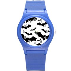 Deathrock Bats Round Plastic Sport Watch Small from ArtsNow.com Front