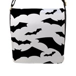 Deathrock Bats Flap Closure Messenger Bag (Large)
