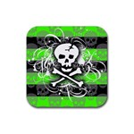 Deathrock Skull Rubber Square Coaster (4 pack)