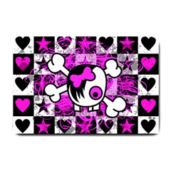 Emo Scene Girl Skull Small Doormat from ArtsNow.com 24 x16  Door Mat