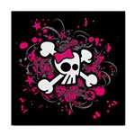 Girly Skull & Crossbones Tile Coaster
