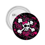Girly Skull & Crossbones 2.25  Button