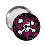 Girly Skull & Crossbones 2.25  Handbag Mirror