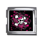 Girly Skull & Crossbones Mega Link Italian Charm (18mm)