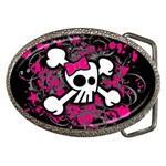 Girly Skull & Crossbones Belt Buckle