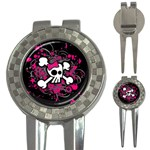 Girly Skull & Crossbones 3-in-1 Golf Divot