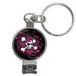Girly Skull & Crossbones Nail Clippers Key Chain