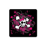Girly Skull & Crossbones Magnet (Square)