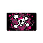 Girly Skull & Crossbones Magnet (Name Card)