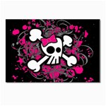 Girly Skull & Crossbones Postcard 4 x 6  (Pkg of 10)