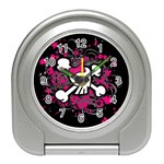 Girly Skull & Crossbones Travel Alarm Clock