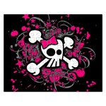 Girly Skull & Crossbones Jigsaw Puzzle (Rectangular)