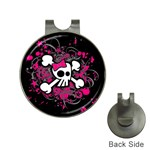 Girly Skull & Crossbones Golf Ball Marker Hat Clip