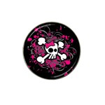 Girly Skull & Crossbones Hat Clip Ball Marker (4 pack)