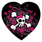 Girly Skull & Crossbones Jigsaw Puzzle (Heart)