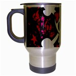Girly Skull & Crossbones Travel Mug (Silver Gray)