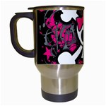 Girly Skull & Crossbones Travel Mug (White) from ArtsNow.com Left
