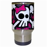 Girly Skull & Crossbones Travel Mug (White) from ArtsNow.com Center