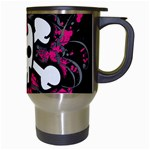 Girly Skull & Crossbones Travel Mug (White) from ArtsNow.com Right