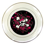 Girly Skull & Crossbones Porcelain Plate