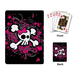 Girly Skull & Crossbones Playing Cards Single Design from ArtsNow.com Back