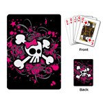 Girly Skull & Crossbones Playing Cards Single Design
