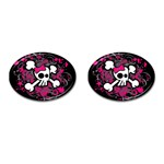 Girly Skull & Crossbones Cufflinks (Oval)