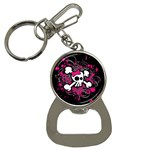 Girly Skull & Crossbones Bottle Opener Key Chain