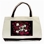 Girly Skull & Crossbones Classic Tote Bag (Two Sides)