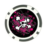 Girly Skull & Crossbones Poker Chip Card Guard