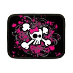 Girly Skull & Crossbones Netbook Case (Small)