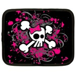 Girly Skull & Crossbones Netbook Case (Large)