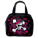 Girly Skull & Crossbones Classic Handbag (One Side)