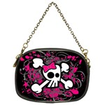 Girly Skull & Crossbones Chain Purse (One Side)