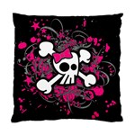 Girly Skull & Crossbones Cushion Case (One Side)