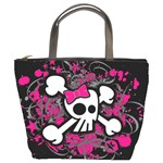 Girly Skull & Crossbones Bucket Bag