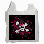 Girly Skull & Crossbones Recycle Bag (One Side)