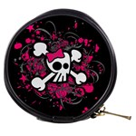 Girly Skull & Crossbones Mini Makeup Bag