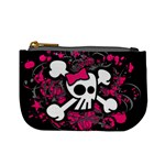 Girly Skull & Crossbones Mini Coin Purse