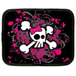 Girly Skull & Crossbones Netbook Case (XXL)