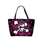 Girly Skull & Crossbones Classic Shoulder Handbag