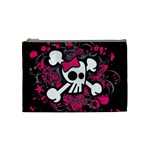 Girly Skull & Crossbones Cosmetic Bag (Medium)