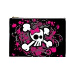 Girly Skull & Crossbones Cosmetic Bag (Large)