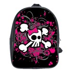 Girly Skull & Crossbones School Bag (Large)