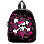 Girly Skull & Crossbones School Bag (Small)