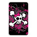 Girly Skull & Crossbones Memory Card Reader (Rectangular)