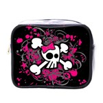 Girly Skull & Crossbones Mini Toiletries Bag (One Side)